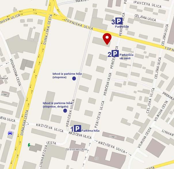 Zemljevid parkirnih mest